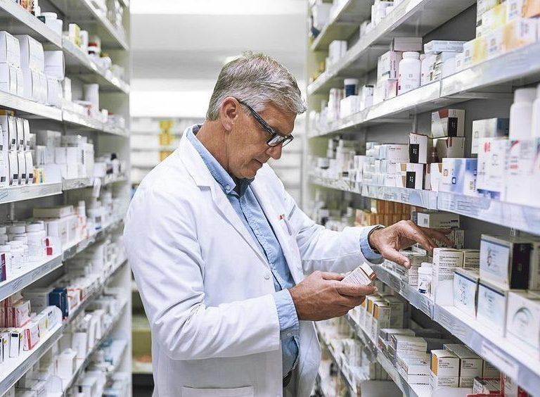 Pharmacist getting medicine